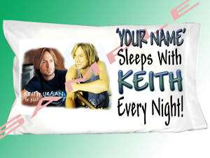 PERSONALIZED KEITH URBAN PILLOWCASE PILLOW CASE NEW