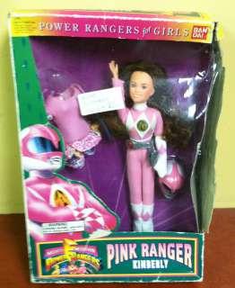 1994 Ban Dai Pink Power Rangers Kimberly Doll