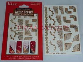 CHOOSE A PACK KISS PROFESSIONAL WATER DECALS NAIL ART TRANSFERS NEW