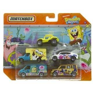 Matchbox Nickelodeon Spongebob Squarepants and Jimmy Neutron 5 Car Set
