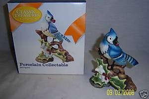 Porcelain BLUE JAY BIRD Figurine Knick Knack