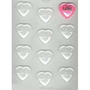 Fancy Love Hearts Candy Mold