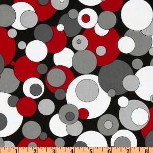 Dots Assorted Dots Red/Black Fabric By The Yard Arts, Crafts & Sewing
