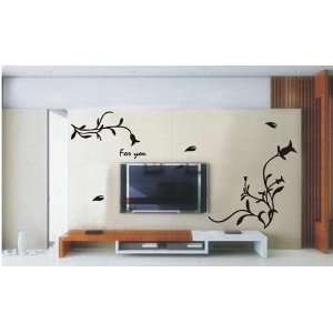 Large  Easy instant decoration wall sticker decor   only