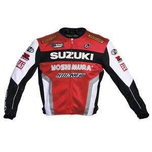 Joe Rocket Suzuki Mesh Replica Jacket   2X Large/Red/White