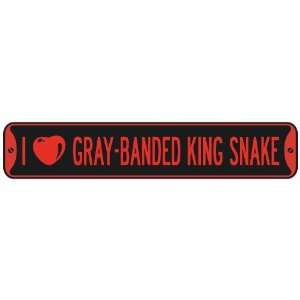 I LOVE GRAY BANDED KING SNAKE  STREET SIGN