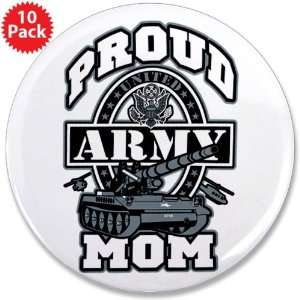 3.5 Button (10 Pack) Proud Army Mom Tank