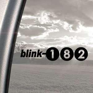 Blink 182 Black Decal Punk Rock Band Truck Window Sticker