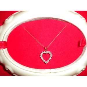 KT. WHITE GOLD HEART & DIAMOND NECKLACE ZALES (18)