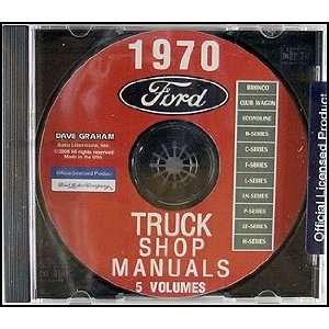 Ford Truck Repair Shop Manual CD ROM Pickup Bronco Van and big trucks
