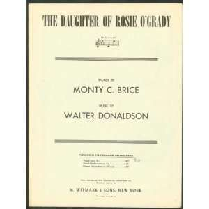 Daughter Of Rosie OGrady Walter (Music) / Brice, Monty C. (Lyrics