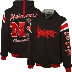 NCAA Nebraska Cornhuskers Black NCAA Division 1 Football 5X National