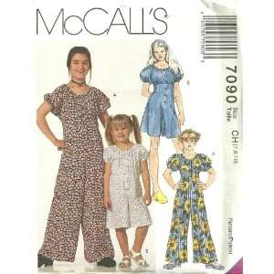 Childrens And Girls Jumpsuit And Romper McCalls Sewing Pattern