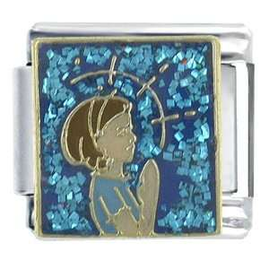 Young Woman Praying Religious Italian Charms Link: Pugster: Jewelry