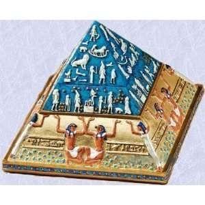 Egyptian pyramid statue jewelry treasure Box sculpture