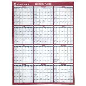 Planner, Small Wall, Blue/Yellow, 2012 (PM550B 28): Office Products