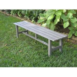 Outdoor Aluminum Portable Backless 5 Park Bench Patio