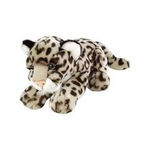 Lying Snow Leopard 9in Stuffed Toy Toys & Games
