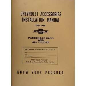 Chevrolet Accessories Installation Manual Reprint Chevrolet Books