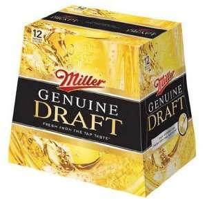 Miller Genuine Draft 12pk Btls Grocery & Gourmet Food