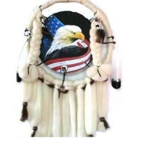 and Prosperity Dream Catcher with Eagle & USA Flag