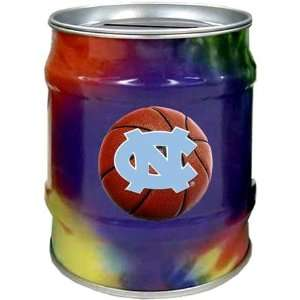 North Carolina Tar Heels UNC NCAA Basketball Tie Dye Tin Bank