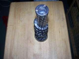 Art Deco Black/White Single Candleholder; HEAVY Unique