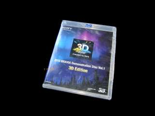 New Sony Bravia 3D TV Ultimate Demo Blu Ray Disc 2010 Vol 1 Dolby 5.1