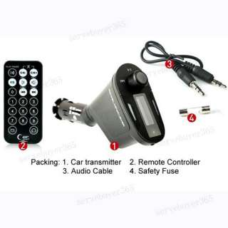 Car Auto Kit  Player Wireless Remote FM Transmitter Modulator USB