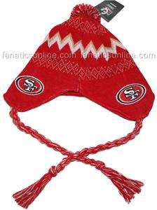 San Francisco 49ers Baby Newborn Rope Knit Beanie Hat New Rare with