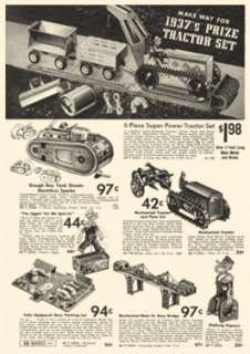 1937 Montgomery Ward Christmas Toy Catalog
