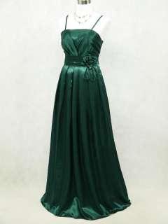 Cherlone Satin Dark Green Long Prom Ball Gown Wedding/Evening Dress