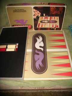 Vintage 1975 S & R Backgammon Board Game MINT complete