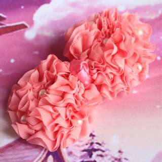 Pearl girl Yarn Simulated lady Hair Accessories Snap Clips