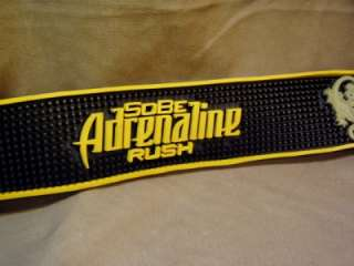 RARE!! Bar Mat Rubber SOBE ADRENALINE RUSH Black Yellow
