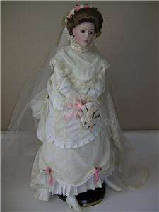 FRANKLIN MINT VICTORIAN BRIDE 22 DOLL 1987 EDITION