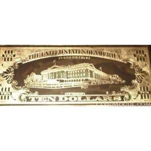 $10 Ten Dollar Bill Gold Plated Toys & Games