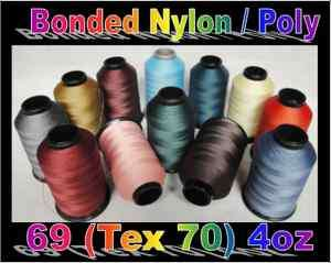 69 (Tex 70) Lt Mid Weight Bonded Nylon/Poly Upholstery Leather Thread