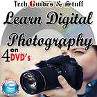 LEARN DIGITAL PHOTOGRAPHY TRAINING 4 DVD VIDEO TUTORIALS GUIDE &FLICKR