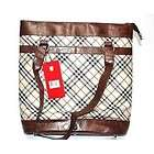 SWISS Mobility Laptop / Notebook Computer Tote, Brown Plaid