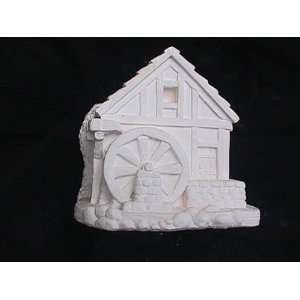 ACRYLIC PAINTS & SPRAY/ BRUSH ON GLAZE WATER WELL BIRD HOUSE 6H 6W