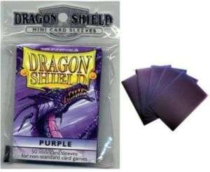50 Dragon Shield Purple Yugioh Card Sleeves Protectors