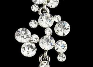 Clear Crystal Chandelier Bridal & Prom Earrings