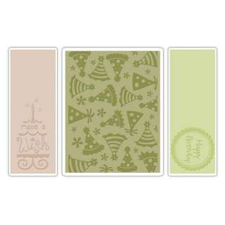 Brand New Sizzix Embossing Folders BIRTHDAY SET #5 (656987)