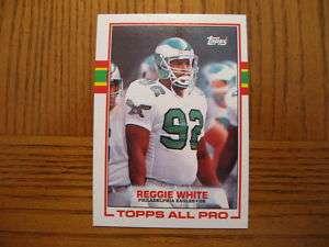 1989 Topps REGGIE WHITE Eagles All Pro Card #108