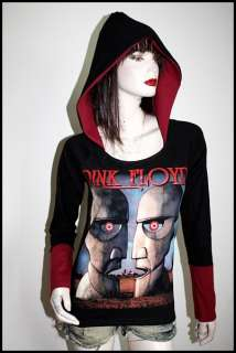 Pink Floyd Hard Metal Punk Rock DIY Corset Hoodie Top