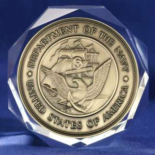 United States Navy Seal Medal on Crystal Octagon