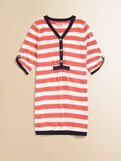 Juicy Couture   Girls Elbow Sleeve Stripe Sweater Dress