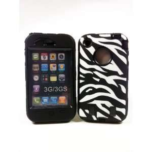 Armored Core Zebra White/Black Print Case with Black Shell