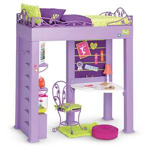 American Girl KcKennas Loft Bed Set AG Doll Year Gymnastics